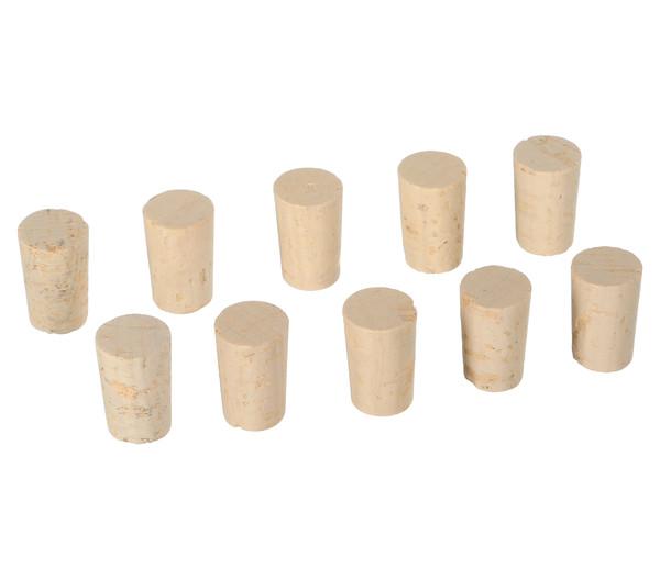 Naturkorken für Weinflaschen, spitz, 10 Stk.