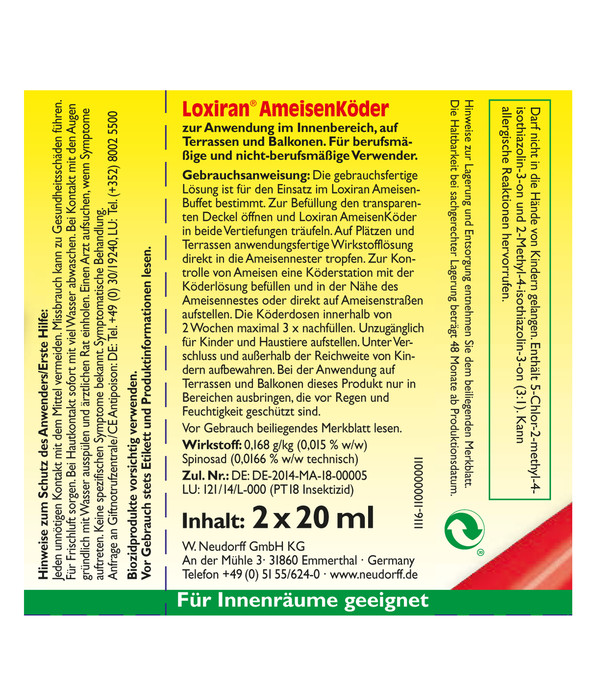 Neudorff Loxiran® AmeisenKöder, 2 Stück