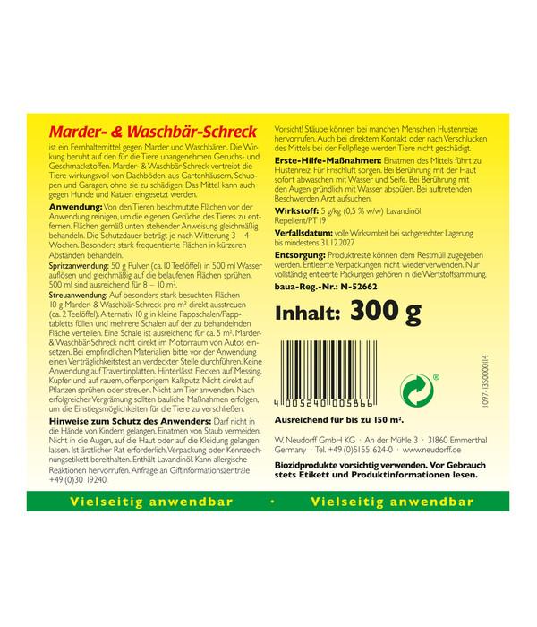 Neudorff Marder- & Waschbär-Schreck, 300 g