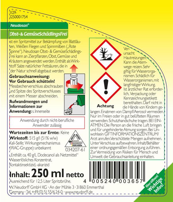 Neudorff Neudosan® Obst- & Gemüse-Schädlingsfrei, 250 ml
