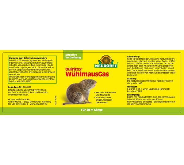 Neudorff Quiritox® Wühlmaus Gas, 2 Kartuschen