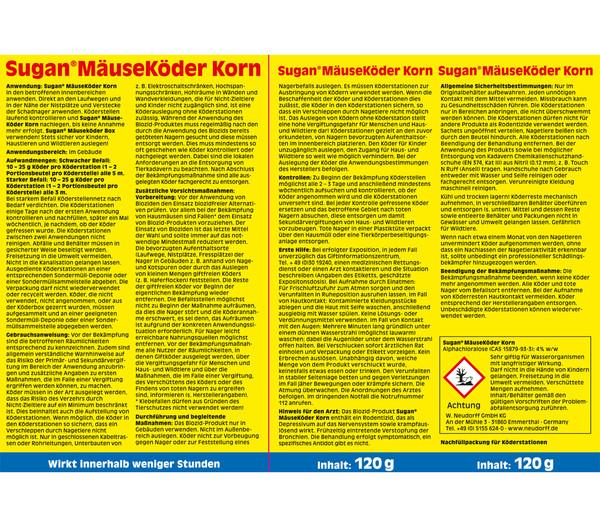 Neudorff Sugan® MäuseKöder Korn, 120 g