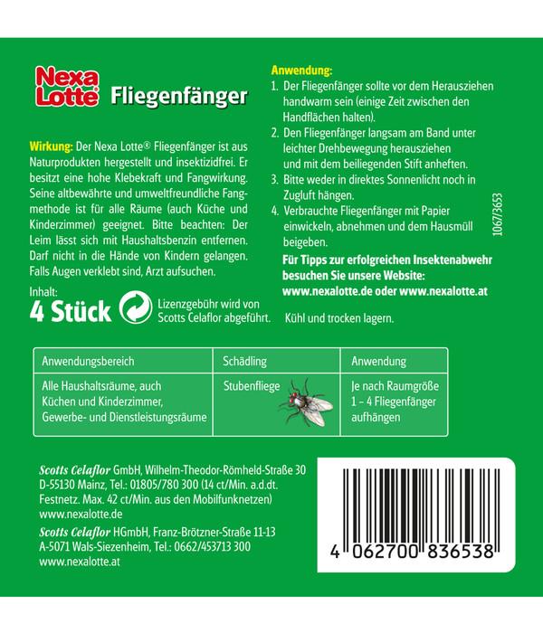 Nexa Lotte® Fliegenfänger, 4 Stk.