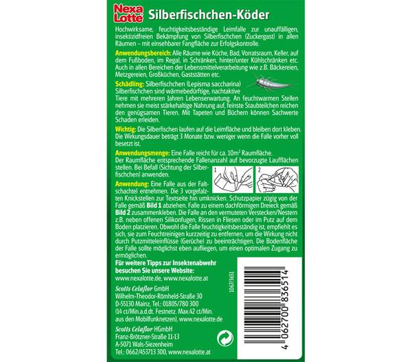 Nexa Lotte® Silberfischchen Köder, 3 Stk.