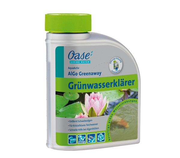 Oase Grünwasserklärer AquaActiv AlGo Greenaway, 500 ml