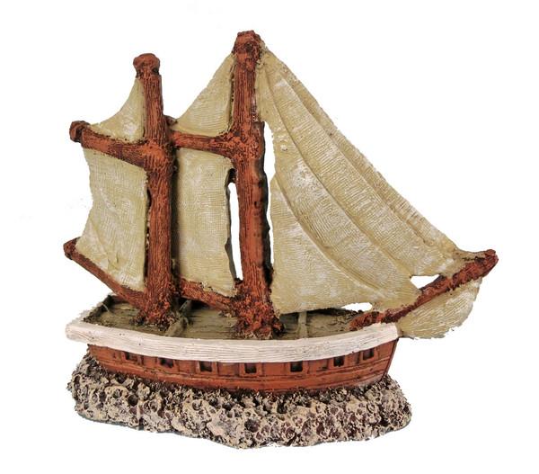 Orbit Segelboot, Aquariumdeko, 21 cm