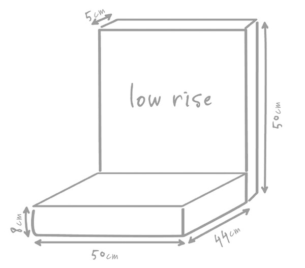 Outbag Niederlehnerpolster Low Rise Plus, 94x50x8 cm