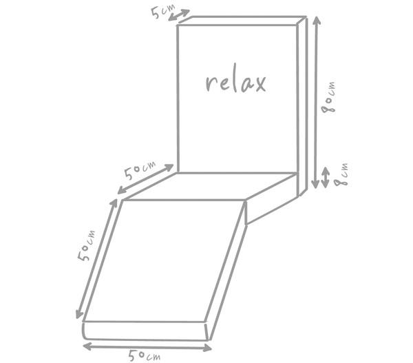 Outbag Outdoor Gartenstuhl-Auflage Relax Plus, 180 x 50 x 5 cm