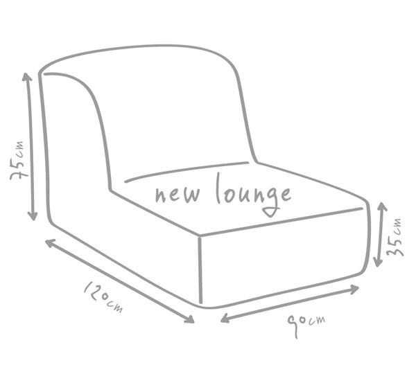 Outbag Outdoor-Sitzsack Newlounge Deluxe White