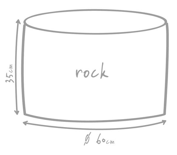 Outbag Outdoor-Sitzsack Rock Canvas