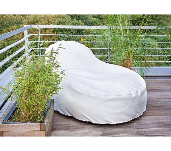 Outbag Outdoor-Sitzsack Slope XL Deluxe, light white