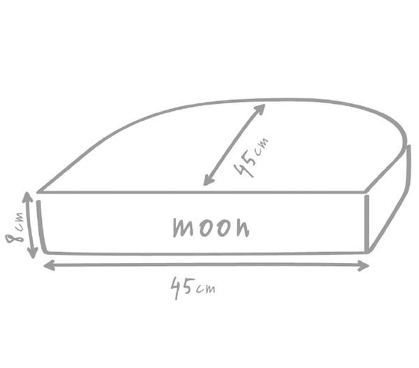 Outbag Sitzkissen Moon Plus, halbrund, 45 x 45 x 8 cm