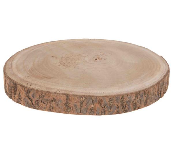 Paulownia Holzscheibe, Durchmesser 30 cm