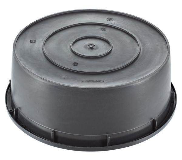 PE-Becken für den Außenbereich, 150 l, rund, schwarz