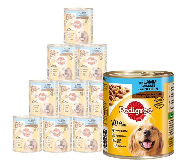 Pedigree® Nassfutter Pasteten, 12 x 800g