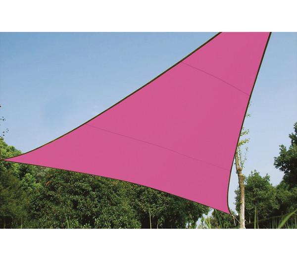 Perel Sonnensegel Dreieck, 5 x 5 x 5 m