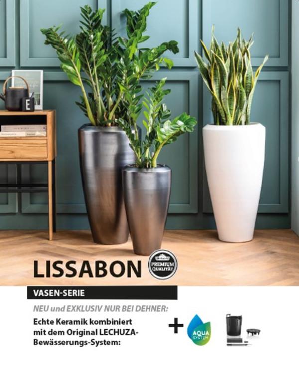 Pflanzvase 'Lissabon' mit LECHUZA® Bewässerungssystem