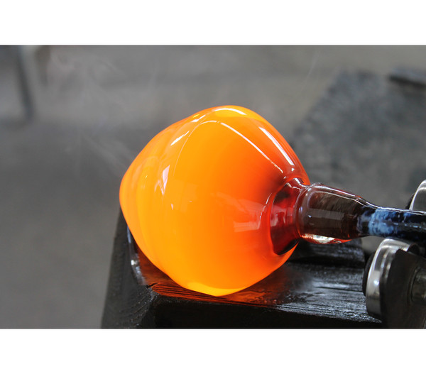 Polczer Glas-Minifisch mit Stab, Ø 11 x 75 cm