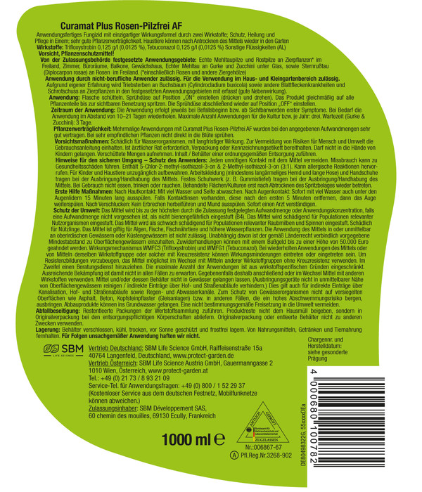PROTECT GARDEN Curamat Plus Rosen-Pilzfrei AF, 1 Liter