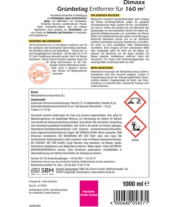 PROTECT HOME Dimaxx Grünbelag Entferner, 1 l