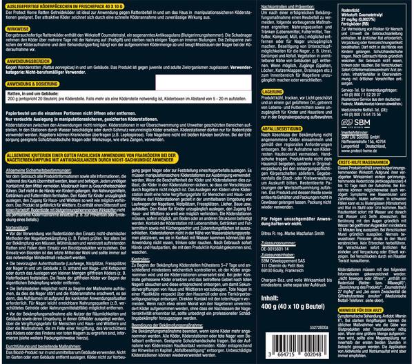 PROTECT HOME Rodicum® Ratten Getreideköder, 400 g