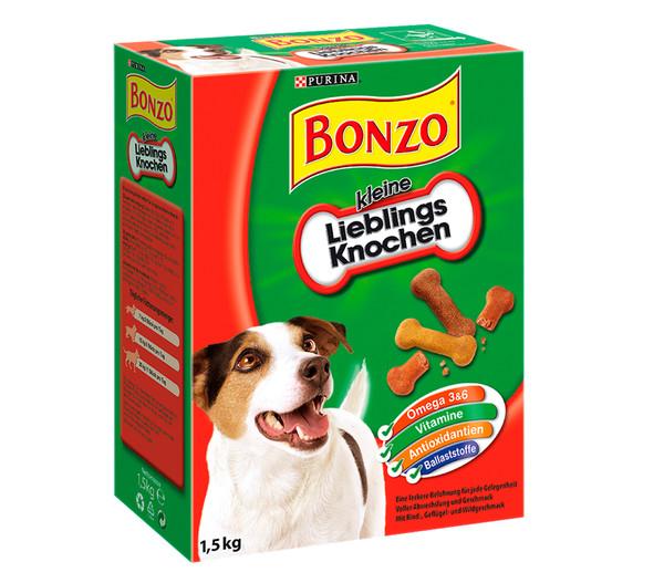 PURINA BONZO® Hundesnack kleine Lieblingsknochen