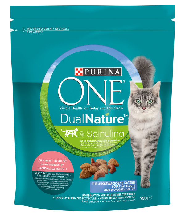 PURINA® ONE Trockenfutter DualNature Adult, Lachs