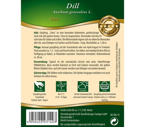 Quedlinburger Samen Dill 'Tetra'