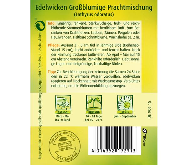 Quedlinburger Samen Edelwicke 'Grossblumige Mischung'