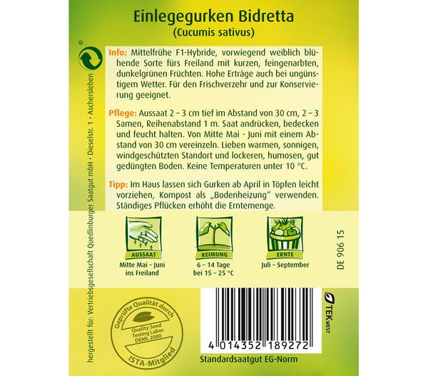 Quedlinburger Samen Einlegegurke 'Bidretta'