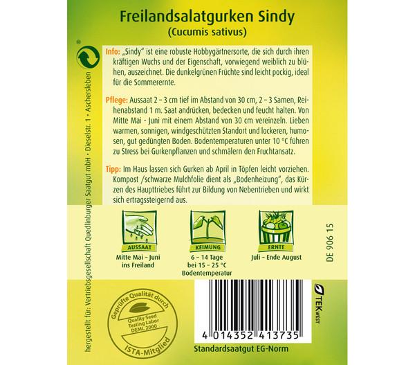 Quedlinburger Samen Freilandsalatgurke 'Sindy'