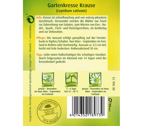 Quedlinburger Samen Gartenkresse 'Krause'