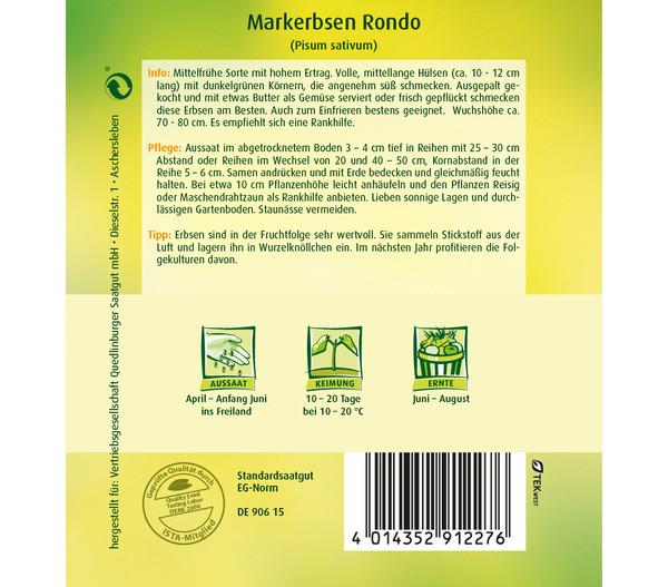Quedlinburger Samen Markerbsen 'Rondo'