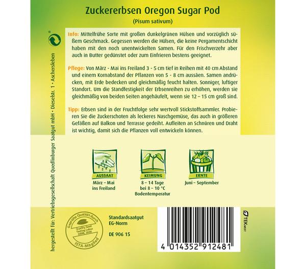 Quedlinburger Samen Zuckererbsen 'Oregon Sugar Pod'