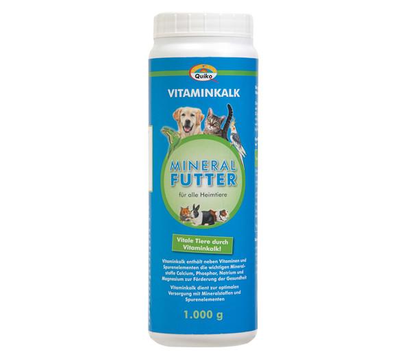 Quiko® Vitaminkalk Mineralfutter für alle Heimtiere, 1kg