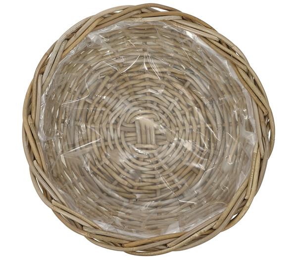 Rattan-Pflanzschale, braun, Ø 41 cm