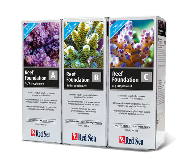 Red Sea Reef Foundation Start Kit A/B/C, 3 x 250ml