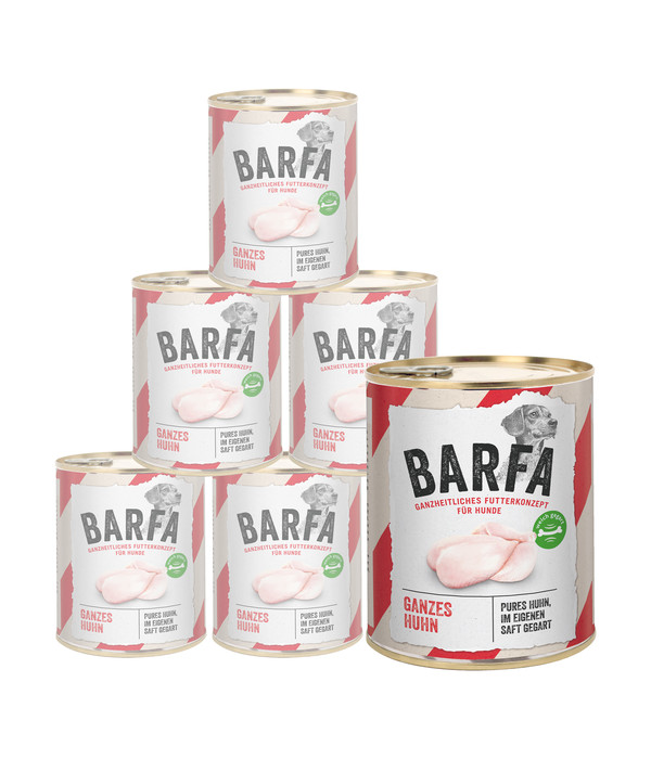 Rinti BARFA Nassfutter Huhn Total 6 x 825g