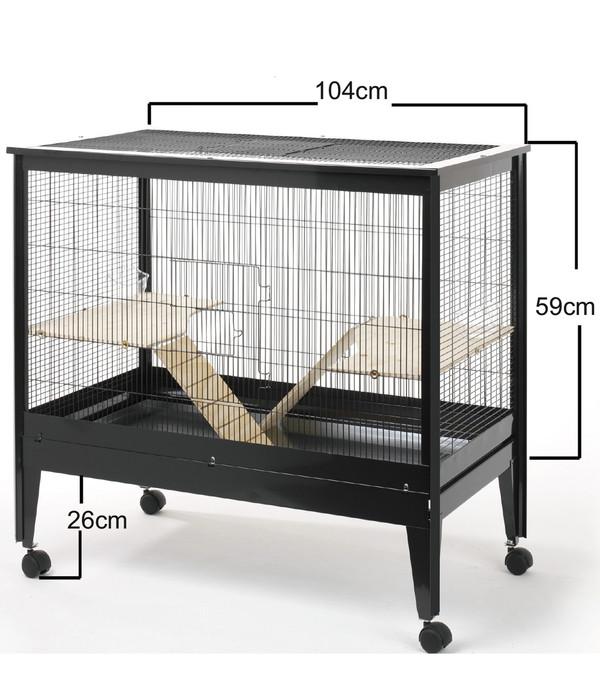 Rohrschneider Nagerkäfig Palma, schwarz