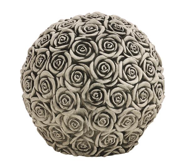 Rosenkugel, Ø 24 cm, grau