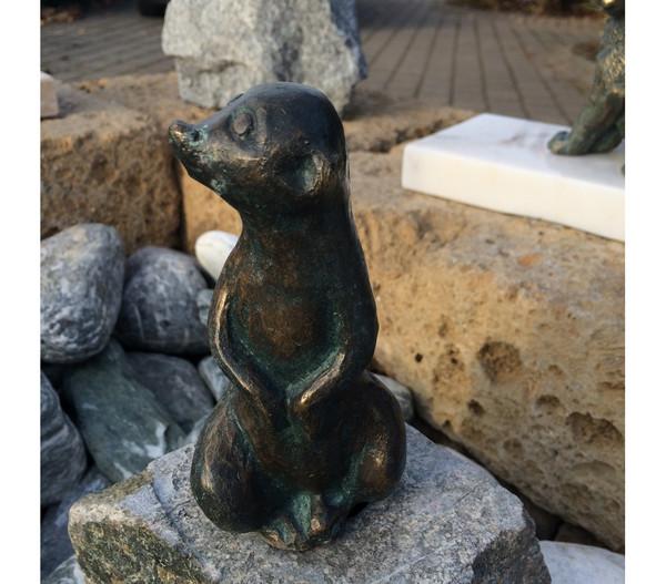Rottenecker Bronze-Erdmännchen mittel, wasserspeiend