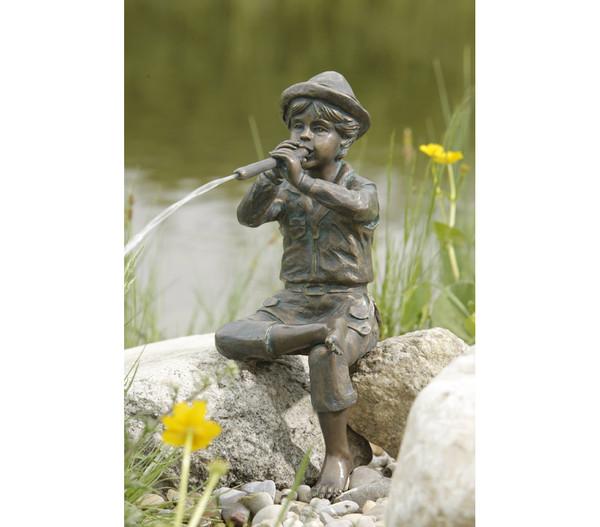 Rottenecker Bronzefigur Flötenspieler