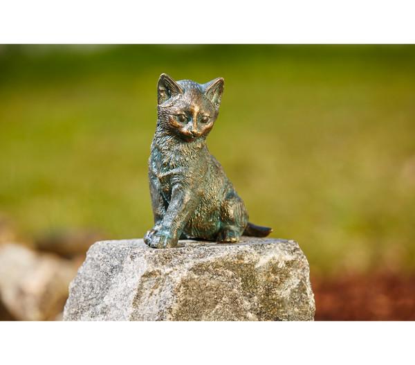 Rottenecker Bronze-Katze sitzend, 12 x 8 x 13 cm