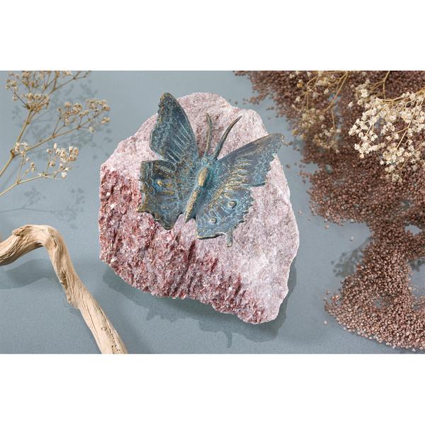 Rottenecker Bronze-Schmetterling auf Rosariofindling, ca. B15/H10/T15 cm