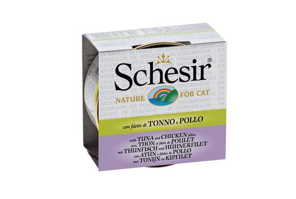 Schesir® Nassfutter Thunfischvariationen in Kochbrühe, 70g