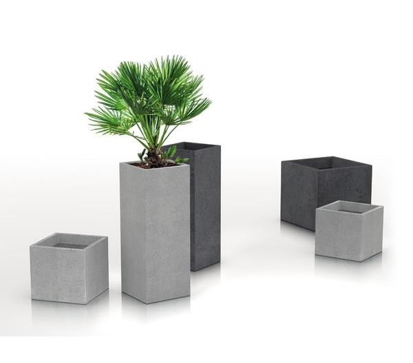 Scheurich Kunststoff-Topf C-Cube High, ca. B28/H48/T28 cm, stony black