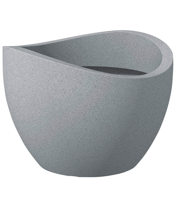 Scheurich Kunststoff-Topf Wave Globe, stony-grey