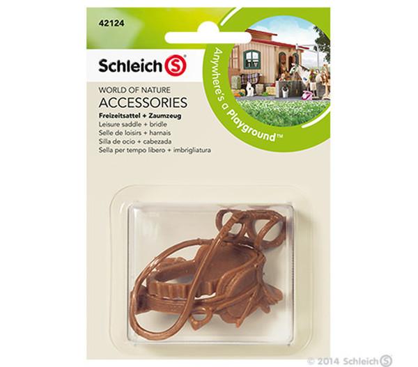 Schleich Freizeitsattel + Zaumzeug