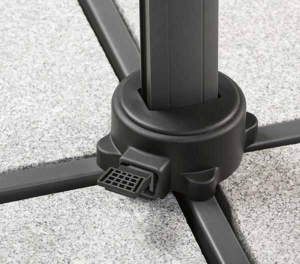 schneider ampelschirm rhodos twist 300 x 300 cm dehner. Black Bedroom Furniture Sets. Home Design Ideas