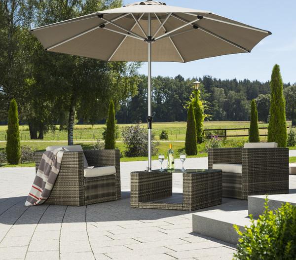 Schneider Premium Sonnenschirm Monaco, Ø 350 cm, granitgrau